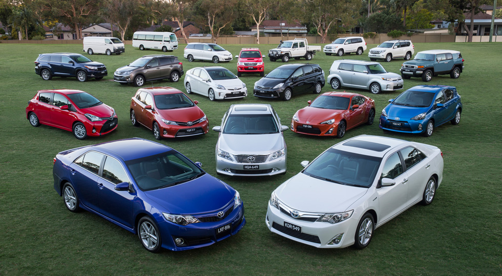 Популярные в РФ автомобили марки Тойота