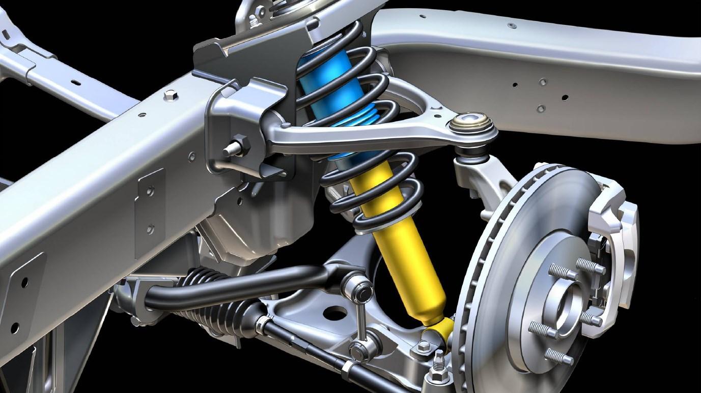 Подвески в большинстве современных автомобилей состоят из одинаковых компонентов. Рычаги подвесок крепятся с помощью резиновых сайлентблоков и сферических шарниров, для гашения колебаний используются амортизаторы