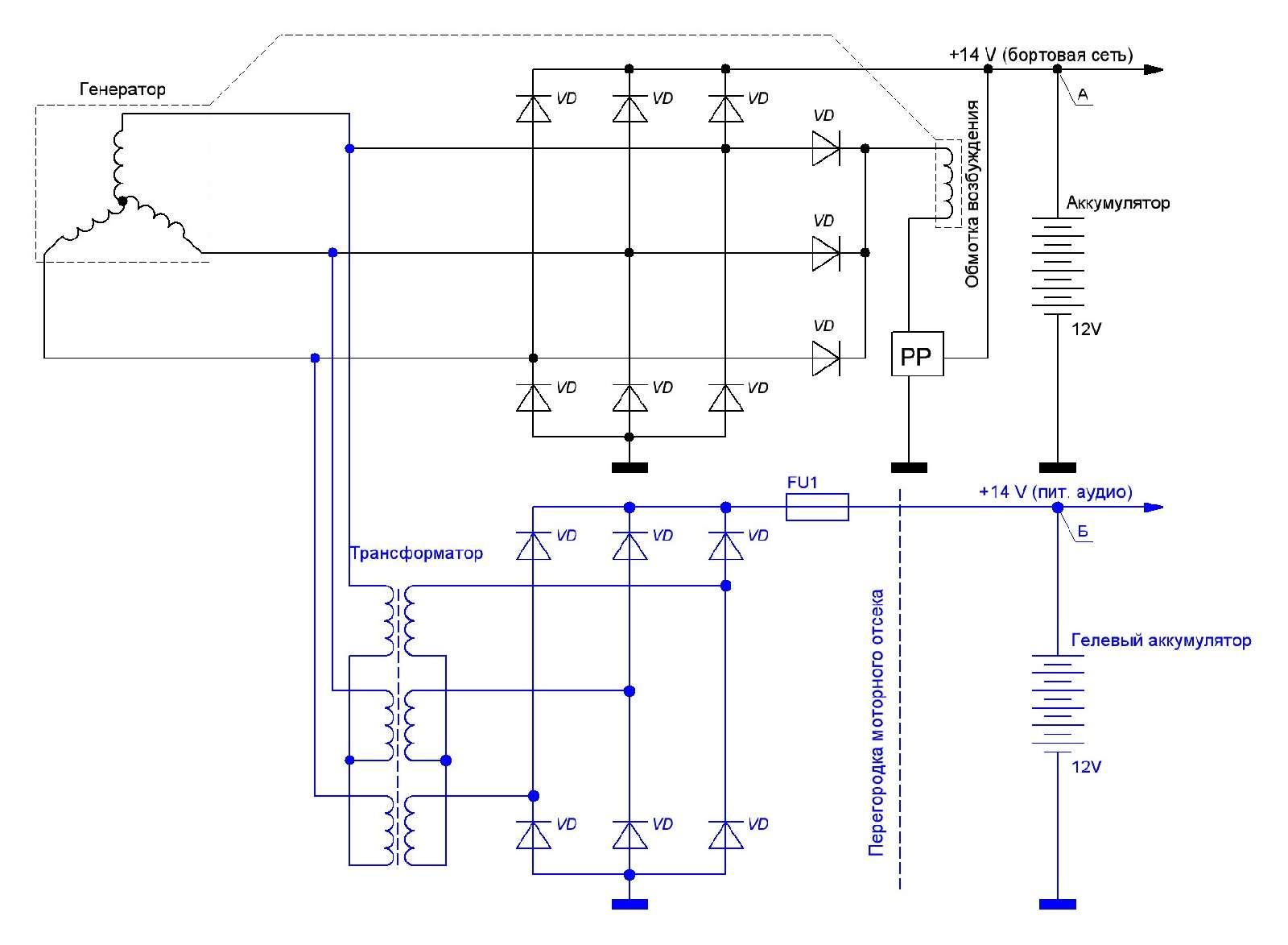 Генератор 4201.3771 схема подключения